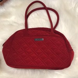 Vera Bradley Red Purse Bag Quilted